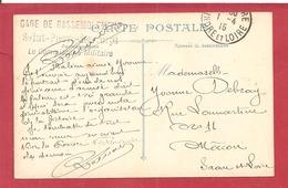 Y&T N°FM GARE DE RASSEMBLEMENT TOURS  Vers MACON   1915  2 SCANS - 1. Weltkrieg 1914-1918