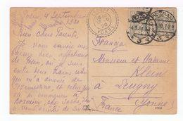 Sur Carte Postale Multivues De Posen Poznan 2 Timbres CAD Poznan. Destination: Leugny: CAD. (1640) - 1919-1939 Republic