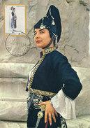 D30168 CARTE MAXIMUM CARD 1973 GREECE - GREEK FOLKLORE COSTUME CP ORIGINAL - Cartoline Maximum