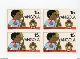 Angola-1989-Pionnier Angolais-1 Valeur En Bloc De 4***MNH - Scouting
