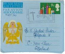 Grossbritannien, Air Letter, Aerogramme, Mit FDC-Stempel British Philatelic 1.Nov.1967 In Die Schweiz - Luftpost & Aerogramme