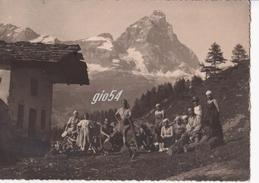 Aosta Valtournanche Cervino Fotografica Agosto 1925 Fg - Italia