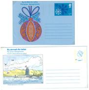 Grossbritannien, 2 Air Letter, Aerogramme **,  12 P  Christmas + 24 P Submarine - Luftpost & Aerogramme