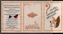 PUBLICITE - Petit Dépliant De AMIEUX-FRERES - Votre Caractère Dévoilé - 2 Poissons - Chocolaterie Amieux - Publicités