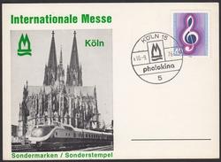 BRD 1976 - Internationale Foto Messe In Köln - Sonderstempel 10.9.1976 - Fotografie