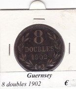 GUERNESEY  8 DOUBLES  ANNO 1902  COME DA FOTO - Guernsey