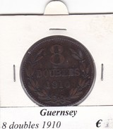 GUERNESEY  8 DOUBLES  ANNO 1910  COME DA FOTO - Guernesey