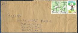 J154- Postal Used Cover. Posted From Nigeria To England. UK. Democracy. Wild Life. Bird. Stanley Crane. - Nigeria (1961-...)