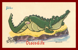 Walt Disney * Pub Chocolat Tobler * Crocodile   ( Scan Recto Et Verso ) - Other