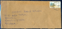 J156- Inland Postal Used Cover. Posted From Nigeria.Plants. Tree. Beach. - Nigeria (1961-...)