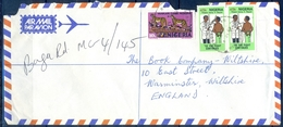 J157- Postal Used Cover. Posted From Nigeria To England. UK.  Animals.  Leopard. TB The Fight Continues. - Nigeria (1961-...)