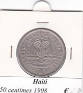 HAITI   50 CENTIMES  ANNO 1908  COME DA FOTO - Haïti
