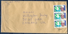 J159- Postal Used Cover. Posted From Nigeria To England. UK. Flag. Democracy. - Nigeria (1961-...)
