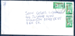 J160- Postal Used Cover. Posted From Nigeria To England. UK. Democracy. Rule Of Law. - Nigeria (1961-...)