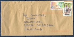 J161- Postal Used Cover. Posted From Nigeria To England. UK. Not To Cultism. UPU. Costume. - Nigeria (1961-...)