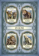 TCHAD CHAD 2017 SHEET LIONS LEONES WILD CATS RAUBKATZEN FELINS FELINES FELINOS FELINI WILDLIFE Tch17120a - Tsjaad (1960-...)