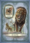 TCHAD CHAD 2017 SHEET LIONS LEONES WILD CATS RAUBKATZEN FELINS FELINES FELINOS FELINI WILDLIFE Tch17120b - Tsjaad (1960-...)