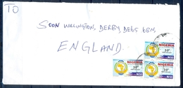 J176- Postal Used Cover. Posted From Nigeria To England. UK. - Nigeria (1961-...)