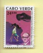 TIMBRES - STAMPS - CAP VERT / CAPE VERDE -1990- VACCINATION - EDWARD SALK (POLIO) - TIMBRE OBLITÉRÉ - CLÔTURE DE SERIE - Cape Verde