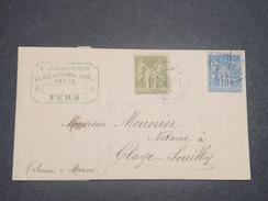 FRANCE - Lettre Commerciale De Fers Pour Claye Souilly En 1879 , Affranchissement Sages - L 8353 - Marcophilie (Lettres)