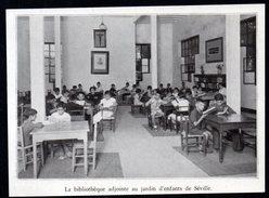 1938  --  ESPAGNE --  BIBLIOTHEQUE ADJOINTE AU JARDIN D ENFANTS DE SEVILLE  3M.435 - Collections