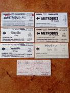 7 Tickets  Metro,Madrid  Espanha - Métro