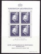 Liechtenstein 1938 Josef Rheinberger M/s ** Mnh (35999) - Blocks & Sheetlets & Panes