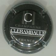 CAPSULE-CHAMPAGNE CLERAMBAULT N°15b Noir Barres Argent - Champagnerdeckel