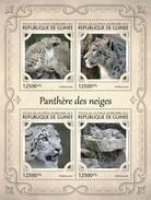 GUINEA 2017 SHEET SNOW LEOPARDS WILD CATS RAUBKATZEN FELINS FELINES FELINOS FELINI WILDLIFE Gu17124a - Guinee (1958-...)