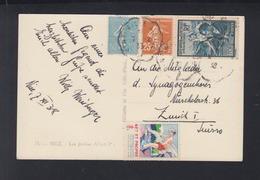 France CP Nice 1938 Pour Zurich - 1921-1960: Periodo Moderno