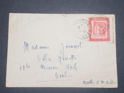 FRANCE - Enveloppe De Bar Sur Aube En 1935 Pour Toul , Affranchissement Paix Sur Porte Timbre - L 8364 - Marcophilie (Lettres)