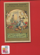 LYON CHOCOLAT PROSPER FAYNEL CHROMO DOREE FABLE LA FONTAINE RAT VILLE  CHAMPS VIEILLEMARD - Chocolat