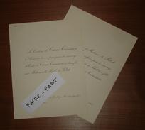 FAIRE-PART MARIAGE 1901 De CARNé-TRECESSON # De PELET Château De Beaumont-Guitté Caulnes Bretagne Abbeville Picardie - Wedding