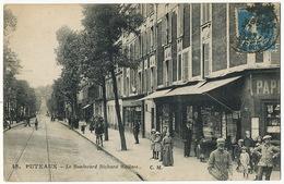 15 Puteaux Le Boulevard Richard Wallace C.M. Magasin Cartes Postales Librairie - Puteaux