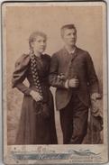 Photo Originale De Cabinet XIX ème Couple Femme Belle Tresse Longs Cheveux Par Hack Strasbourg Mulhouse - Photographs