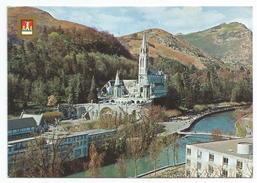 1982 Lourdes, La Basilica E Il Gave. - Lourdes