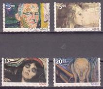 Noorwegen 2013 Mi Nr 1804 - 1807 Schilderijen Van Edvard Munch  -1 - Norway