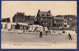 22 TREGASTEL Un Coin De La Plage Sainte-Anne ; Cabines, Vélos - Animée - Trégastel