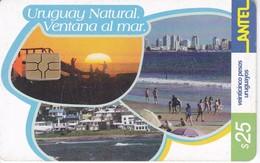 Nº 268 TARJETA DE URUGUAY NATURAL VENTANA AL MAR (CHIP G5 ROJO) - Uruguay