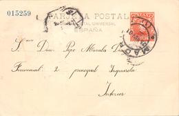 1901.- ENTERO PRIVADO ALFONSO XIII. CADETE EDITADO POR LA EQUITATIVA - 1850-1931