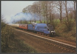 London & North Eastern Railway Locomotive No 4468 'Mallard' - Salmon Postcard - Trains