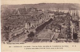 Bordeaux - Les Quais - Vers Les Docks, Vue Prise Du Transbordeur Du Médoc - Bordeaux