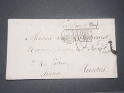 """FRANCE- Marque D 'entrée """" Ang. Amb. Calais """" Sur Enveloppe De Grande Bretagne Pour La France En 1869 - L 8394 - Entry Postmarks"""