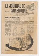 TRACT ALLEMAND ANTI-ANGLAIS / PROPAGANDE / 2eme GUERRE MONDIALE / LE JOURNAL DE CAMBRONNE - Documenti Storici