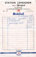 "LA ROCHE-BERNARD  - Facture De La Station "" LEMEIGNEN "" , Agence PEUGEOT En 1954 - Sonstige"