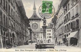 Bern - Obere Kramgasse Mit Zeitglocken - Berne, Tour De L'Horloge - Ernst Selhofer - BE Berne