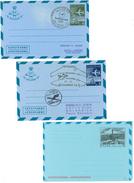Griechenland, 2Aerogramme O, 1971 Lufthansa-Flug Athen-Tokio+1973 Lufthansa-Flug Thessaloniki-Sofia, 1 Aerogr. ** 19 Dr - Luftpost