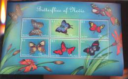 NEVIS   1236 MINT NEVER HINGED MINI SHEET OF BUTTERFLIES-INSECTS   # M-643-2  ( - Vlinders