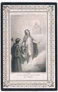 Dp. Van De Velde Seraphinus. Wed. Van Hecke Isabella. ° Melle 1771 † Bottelaere 1861  (2 Scan's) - Religion & Esotérisme