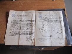 VERVIERS BIBLIOTHEQUE COMUNALE-2 COURRIERS 15/6/17 ET12/7/16  Demande De Pain Et De Travaux. - Documents Historiques